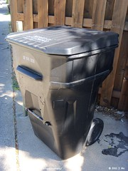 City of Chicago Trash Cart (TheTransitCamera) Tags: chicago trash garbage can bin balck cart dpw