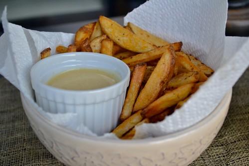 fries & honey mustard dip