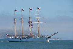 The Chilean Ship 'Esmeralda' visits Pier 27 [7-2011] (daver6sf@yahoo.com) Tags: portofsanfrancisco esmeralda chileannavy sffdfireboat