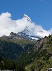 matterhorn (Andrs Guerrero) Tags: naturaleza mountain snow nature switzerland suiza nieve gornergrat zermatt matterhorn montaa cervin cervino