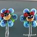 Earring : Blue Ladybug Flower Blossom