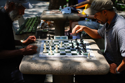 playing chess...