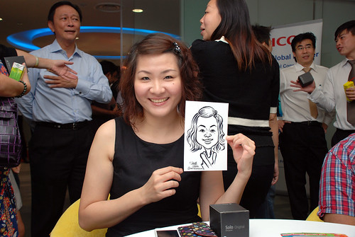 Caricature live sketching for Ricoh Roadshow - 33