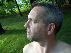 067   365 Rewind   Naked (DavidNewEngland) Tags: gay portrait selfportrait man naked beard backyard shoulders saltandpepper project365 davidsullivan davidnewengland 365rewind