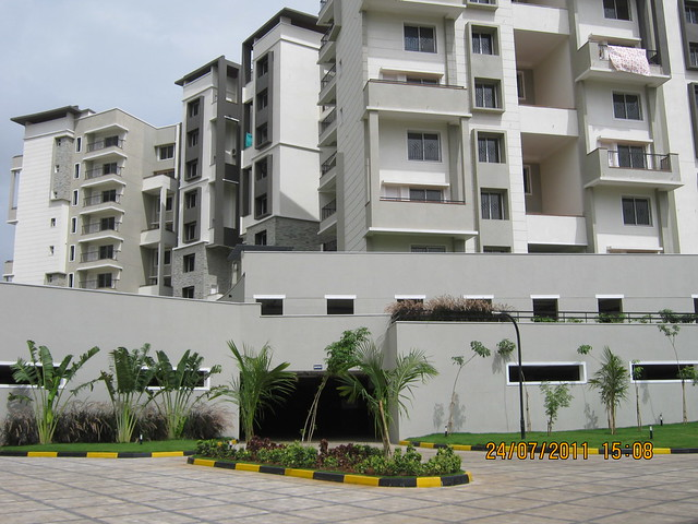 "Basement parking and Sobha Carnation - on the day of launch of ""Sobha Garnet - 3 BHK & 4 BHK Flats"" - off NIBM Road -  at Kondhwa - Pune"