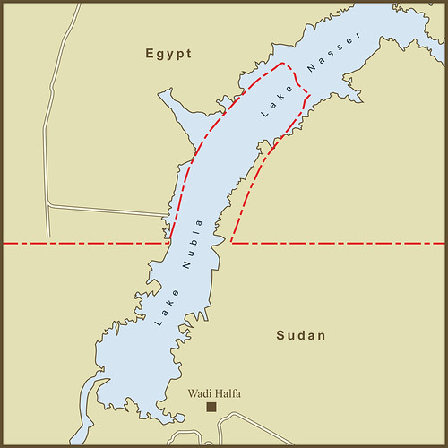 The Border Between Egypt & Sudan at the Wadi Halfa Salient by amproehl