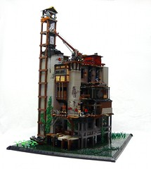 Viktor's Office (-Pendragon-) Tags: building office post lego crane apocalypse swamp apocalego brickfair