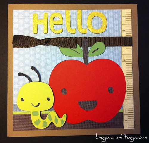 Handmade Back to School Card
