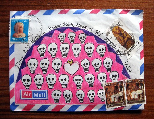 Mail art skulls from Egypt
