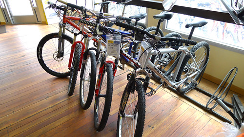 Lots of mountain bikes at the shop!