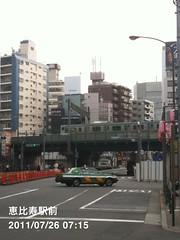 朝散歩(2011/7/26 7:10-7:20): 恵比寿駅前