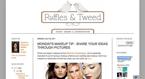 "Ruffles & Tweed: Wedding Day Makeup Makeup Tip • <a style=""font-size:0.8em;"" href=""http://www.flickr.com/photos/13938120@N00/5977939622/"" target=""_blank"">View on Flickr</a>"