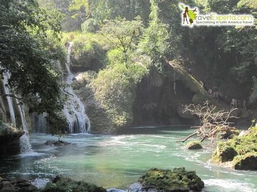 Semuc Champay Cave Waterfall