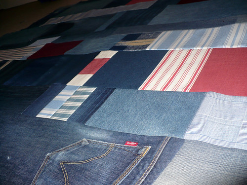 Denim quilt #3 work in progress