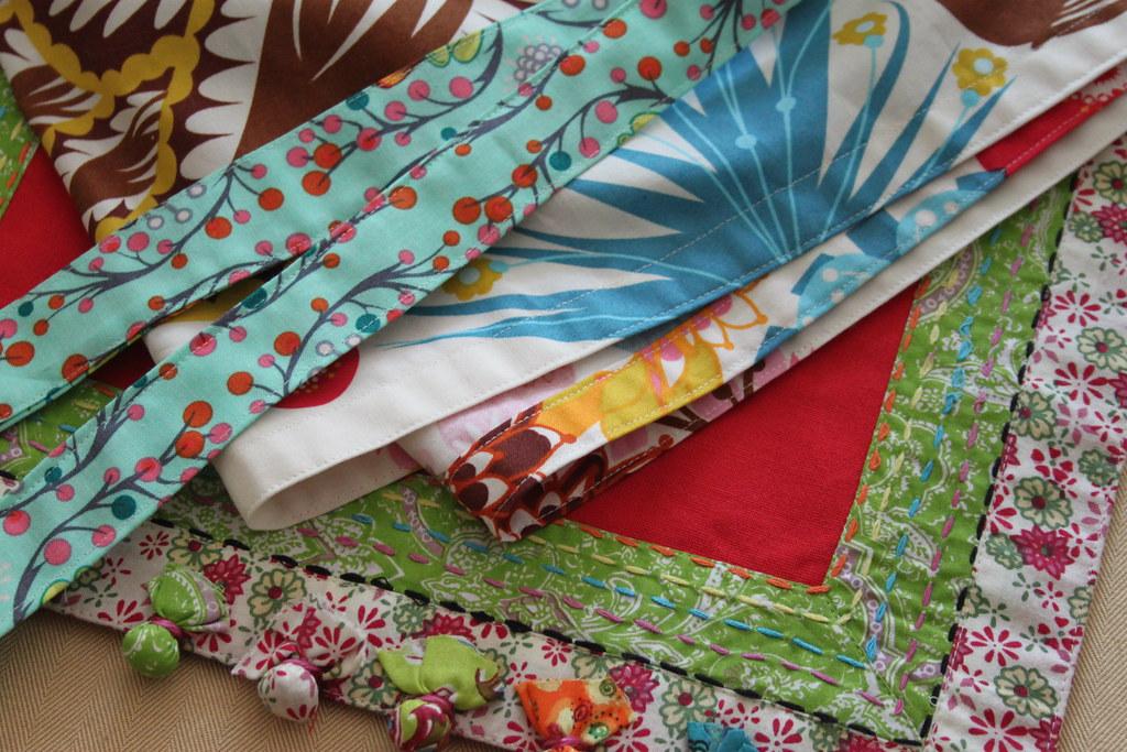 Fabric Pom Pom Tutorial -- Apron Upgrade