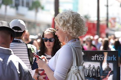 Hollywood Boulevard #26 (stillsguy) Tags: trees summer la nikon traffic bokeh d f14 marilynmonroe 85mm sunny palm pedestrians fans hollywoodblvd nikkor d3 crowded impersonator bokehlicious