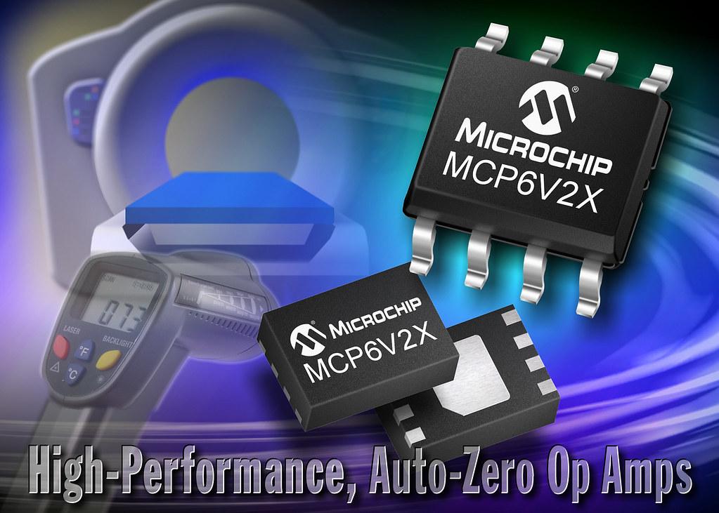 Microchip's MCP6V2X Auto-Zero Op Amp