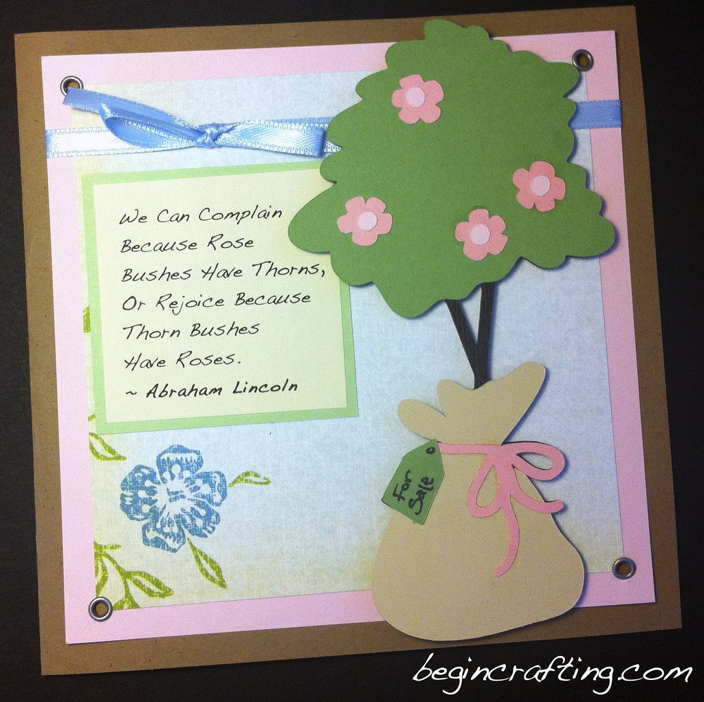 Handmade Card Rose Bush Card
