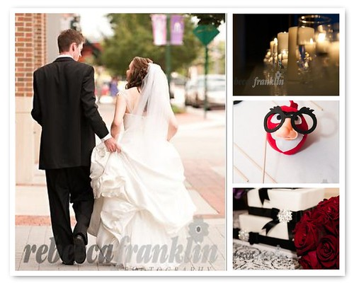 wedding collage for the knot