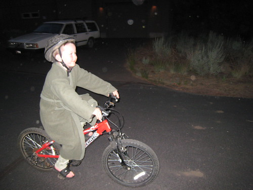 Bathrobe? Check. Bike helmet? Check. by Bart King