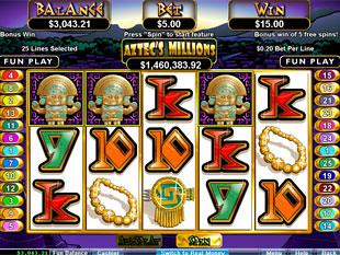 Aztec's Millions Bonus Game