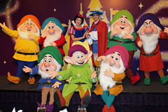 Meeting Snow White, The Prince and the Seven Dwarfs