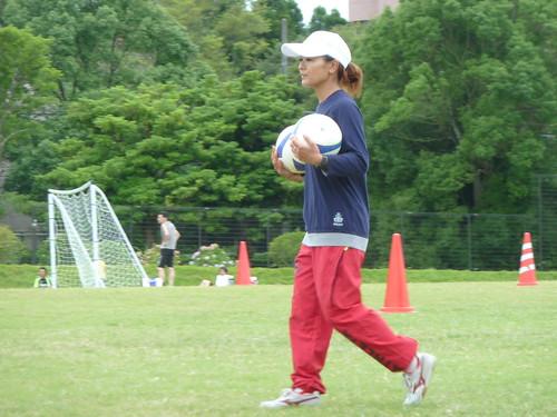 元なでしこジャパン 川上直子コーチ at ITS親子サッカー教室