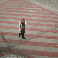 Stripes Place (nateOne) Tags: red tarmac iso200 airport stripes safety vest schnivic mex 1100secatf28 6225mm canonpowershots95 964mm focusdistance678m
