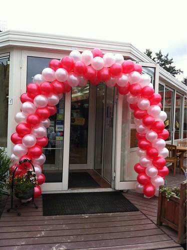 Ballonboog 6m Rood Wit Camping Mattenburg Nieuw Vossemeer