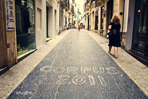Letras en el suelo