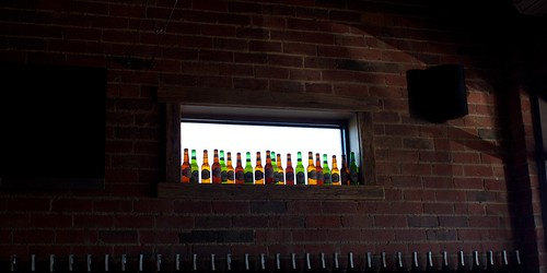 bottles on the windowsill