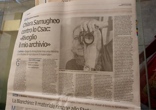 Chiara Samugheo farà presto un' importante mostra a Torino by doris stricher