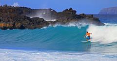 right wave (bluewavechris) Tags: ocean blue sea sun water canon fun hawaii lava surf action surfer wave maui surfboard 7d swell