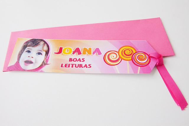 Tema Lollipop - Marcador de Livro com Envelope