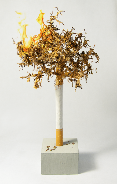 Cigarette Tree Sculpture