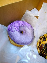 Grape Kool-Aid donut at Voodoo Doughnut (it tasted pretty gross!)