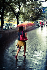 Splash (c_c_clason) Tags: street leica rain umbrella 35mm georgia m8 tbilisi carlzeiss biogon
