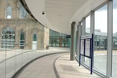 Curtain walling, planar glazing, bolted glass assemblies, artglass. bolted concourse DSC_0333 (jamesutherland) Tags: artglass planar curtainwall boltedglass facetedcurtainwalling