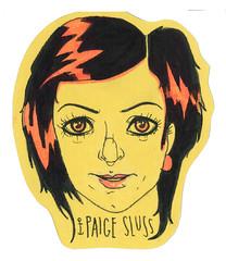 Paige Sluss- Cardstock Hand drawn Sticker