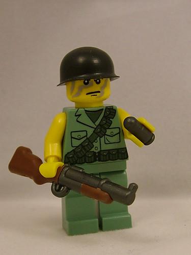 Custom minifig BrickArms at Brickfair 2011 - M79 Grenade Launcher and 40mm Grenade