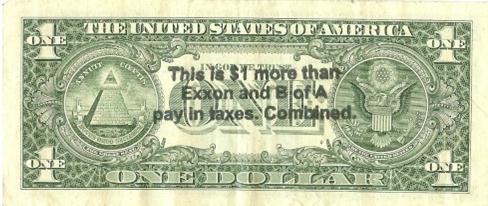 America's $1 Bill Protest