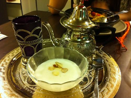 摩洛哥薄荷茶+米布丁
