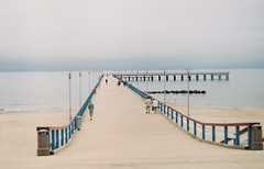 lazy morning (joe pepper) Tags: morning sea film pier seaside fuji superia lithuania palanga zenit11