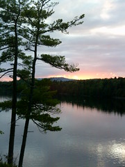 Sunset on Long Pond (ems18) Tags: summer maine august kayaking amc paddling longpond appalachianmountainclub 100milewilderness piscataquiscounty gorhamchairbackcamps