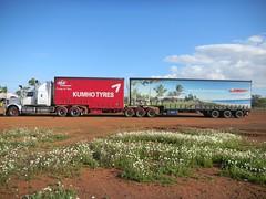 Nothing like a bit of advertising (dieseljocky) Tags: truck australia grange constellation sovereign westernstar bdouble