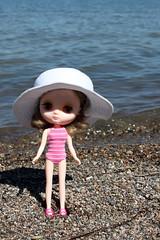Matilda at the beach