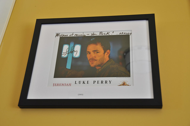 Luke Perry on wall of fame