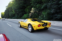 Ford GT [Explored] (Dylan King Photography) Tags: lamborghini ferrari ford de tomaso dodge viper venom 500 countach 25th anniversary gt 458 novitec rosso 355 360 spider spyder diablo murcielago red white yellow gray black silver carbon fiber intake lambo doors open tracking panning rolling driving stripes roof matte side skirts wheels rims lights exhaust interior alcantara wing pantera gt5 front rear rare supercar exotic car v12 v8 v10 downtown vancouver seatosky highway squamish whistler olympic square bc britishcolumbia canada nikon d90 2011
