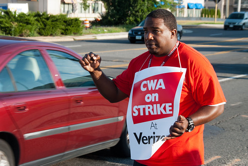 CWA Local 2222 Verizon Strike