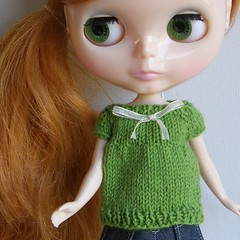 Spring Green Babydoll Sweater